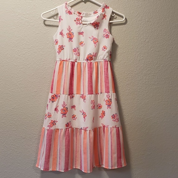 BNWT GIRLS  PURPLE /& PINK FLORAL DRESS SIZE 2 TO 7